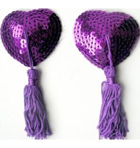 Пэстисы фиолетовые, (текстиль)