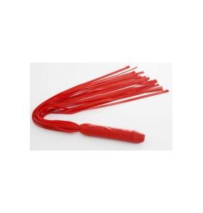 Плеть латексная 18 хвостов красная 43 см