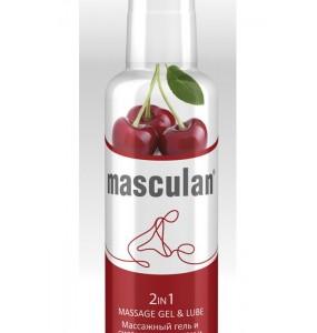Гель-смазка Masculan с ароматом вишни 2в1 130мл