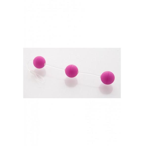 Анальные шарики 2,5см фиолетовые
